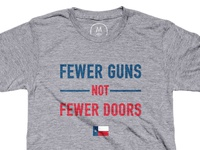 Fewer guns not fewer doors!