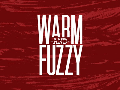 warm and fuzzy design christmas typography happy holidays condensed font red brushes texture