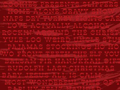 Christmas texture happy holidays christmas typography