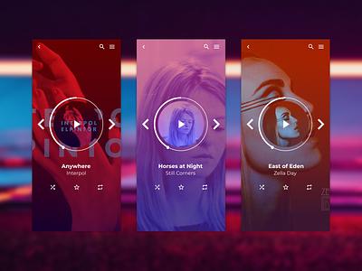 music player music junior designer ui graphic design figma design
