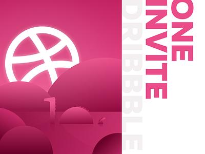 one invite figma graphic design dribbble illustraion invite
