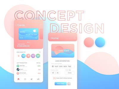 Concept desing. Bank mobile app card challenge graphic graphic design first concept app ui bank landing design figma