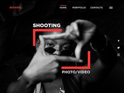 Screen webdesign website graphic design design screen landing figma