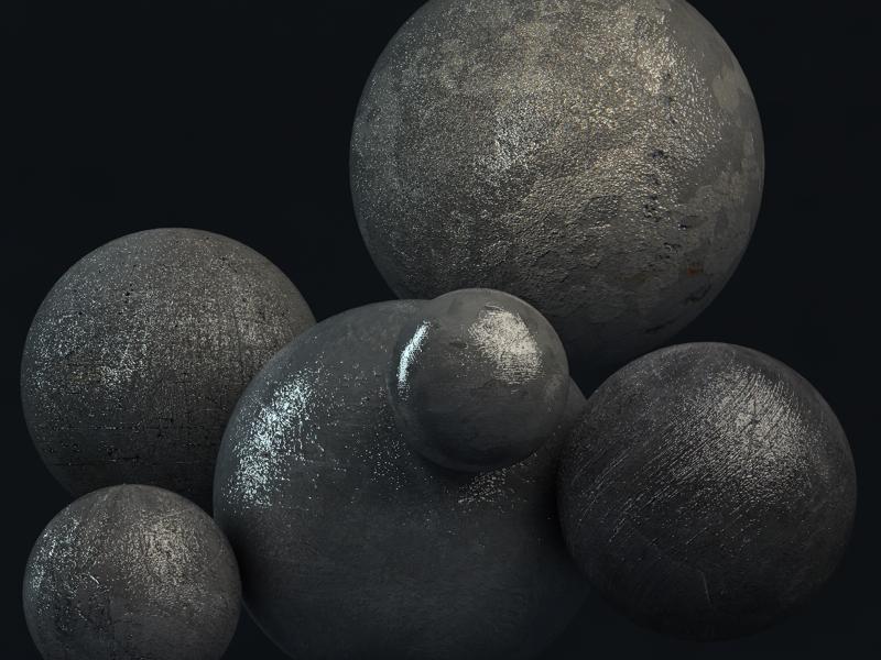 3D Metal Textures by Isaac Taracks on Dribbble