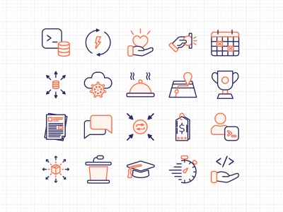 Yugabyte icons 2020 web design icons icon set user interface ui ui design website illustration linear icons ux user experience brand branding
