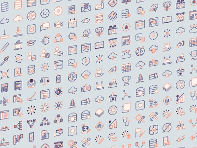 Yugabyte icons 2020 design illustration branding web design website user experience ux ui user interface icons pack icon set icons
