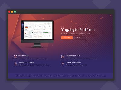YugabyteDB website (Yugabyte Platform) product page product design dark theme platform enterprise startup branding cloud landing page database web design website user experience ui ux user interface