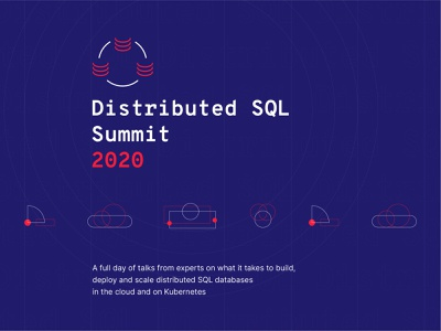 Distributed SQL Summit 2020 Visual Identity v1 sql distributed sql database event branding conference summit startup brand design brand visual identity design visual identity branding logo