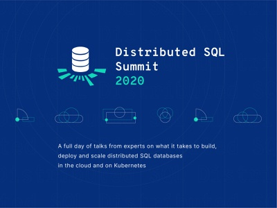 Distributed SQL Summit 2020 Visual Identity v2 logo branding visual identity visual identity design brand brand design startup summit conference event branding database distributed sql sql