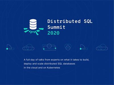 Distributed SQL Summit 2020 Visual Identity v2 logo branding visual identity visual identity design brand brand design startup summit conference event branding database distributed sql sql