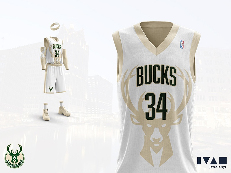 best website fc97d 63fbd Milwaukee Bucks - Home jersey redesign by Ivan Jovanić on ...