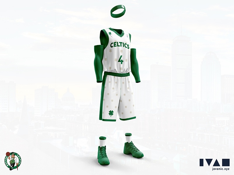 best sneakers 1dbe3 620a5 Boston Celtics - Home jersey redesign by Ivan Jovanić on ...