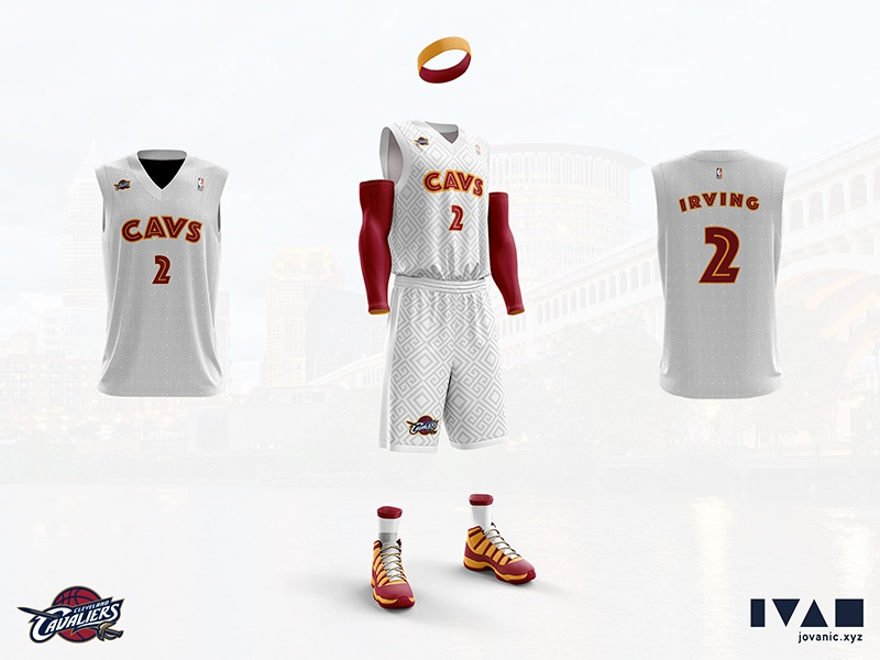 378f0c3325bc Cleveland Cavaliers - Home jersey redesign by Ivan Jovanić ...