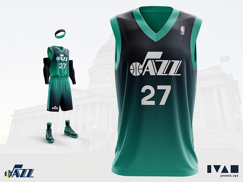 pretty nice 7fce1 83e8d Utah Jazz - Alternate jersey redesign by Ivan Jovanić on ...
