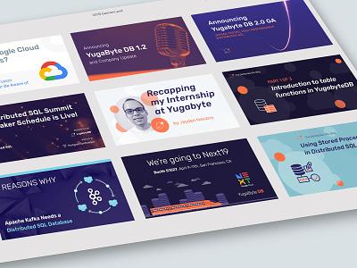 2019 YugabyteDB social media banners logo open source sql database startup branding startup corporate branding logo design startup logo branding visual identity brand