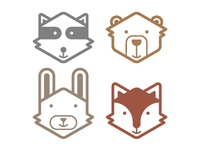 Animal Face Decals