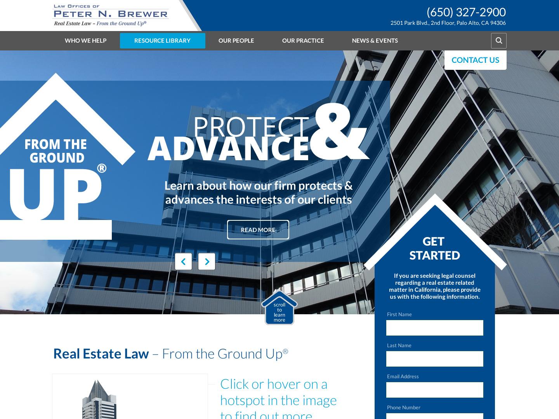 Brewer Firm web design wordpress