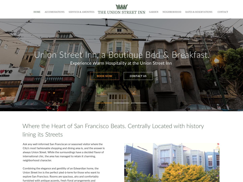 Union Street Inn design wordpress web design