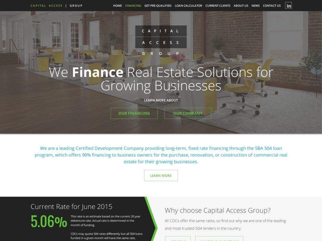 Capital Access design web design wordpress