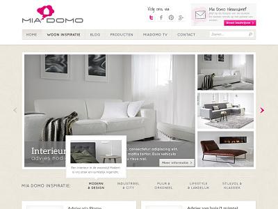 Latest project shot ui webdesign wordpress interior homepage pink