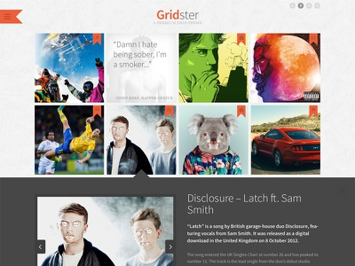 Gridster Theme grid themeforest wordpress responsive