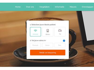 Provider comparing box turquoise line icons widget comparing provider