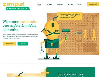Bookkeeping concept webdesign flat clean illustration friendly character webdesign bookkeeping