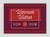 "Holiday Card Design ""Warmest Wishes"""