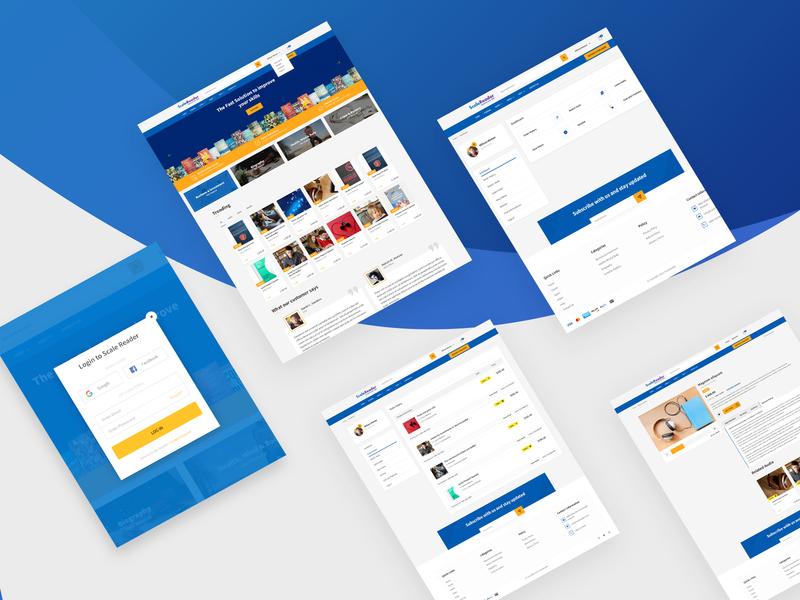 UI Design for eBook selling website kindle ux ui website design userinterafce uidesign ecommerce audiobook ebook