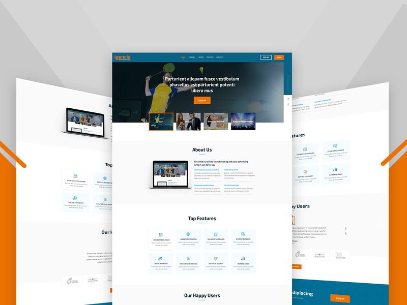 Landing Page Design academics online learning course video online course ux ui landingpage