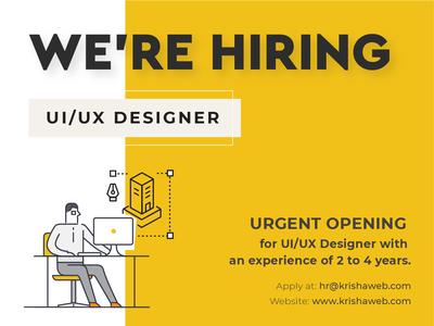 WE ARE HIRING! ahmedabad visualdesigner uiuxdesigner uiux ux ui hiring recruitment job