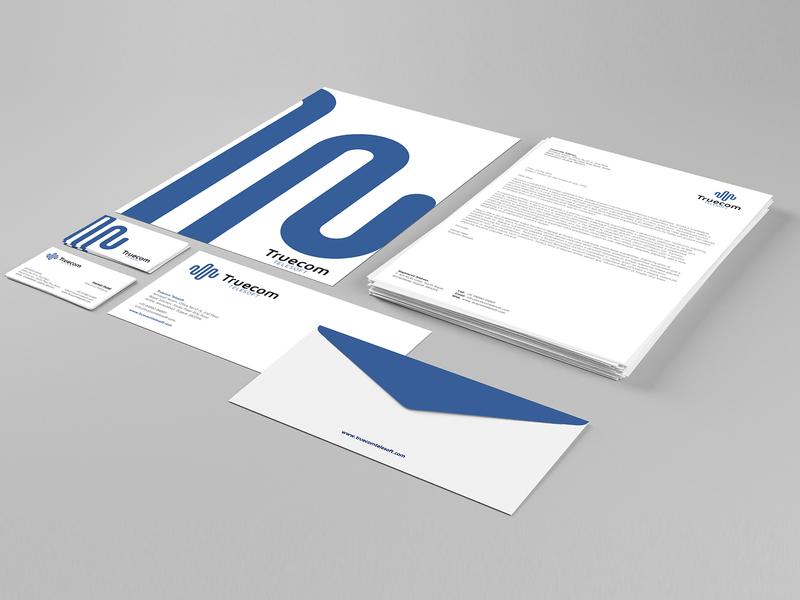 Corporate Stationery for Truecom Telesoft branding brand brand identity identity design stationery design corporate stationery
