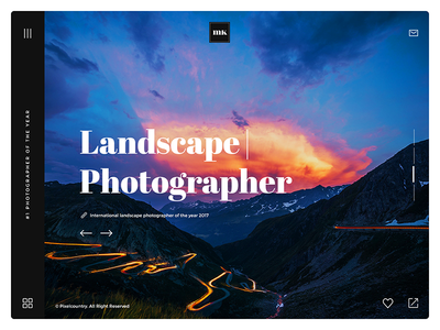Photographer Website UI