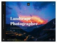 Photographer Website UI