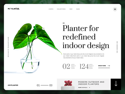 My Planter Website Header - UI Exploration planter ui modern clean plantwebsite plant websiteui uiux userinterface websiteinterface websiteheader