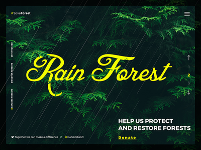 Save Forest Website Header UI