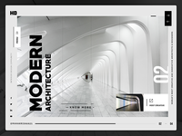 Modern Architecture Website - UI Exploration
