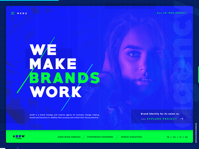 Digital Agency Website Header UI Exploration