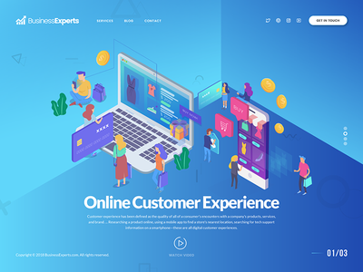 Online Customer Experience - Header UI Exploration