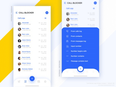 Call Blocker App Design Concept - DailyUI  #2