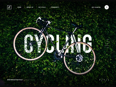 Cycling Hero Image websiteui design creative ux header websiteheader landing page uidesign modern uiux userinterface clean ui