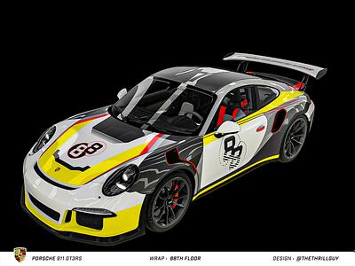 P O R S C H E 911 GT3RS | Wrap Design | #2 car porsche 911 mercedes audi bmw automotive porsche car decals vinyl sticker decal dip wrap car wrap car design