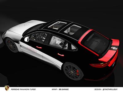 P O R S C H E Panamera Turbo | Wrap Design | #2 car porsche 911 mercedes bmw audi vehicle graphics vehicle design vehicle wrap automotive porsche car decals vinyl sticker decal dip wrap car wrap car design