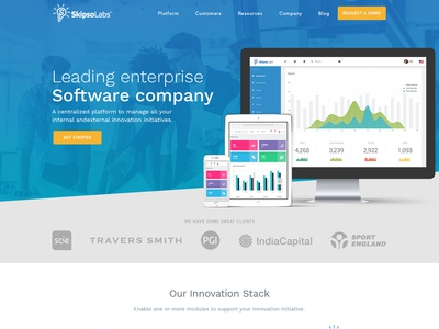 SkipsoLabs - Home Page Design