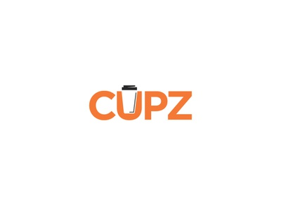 Cupz branding vector illustration cafe coffee clean typography professional logopdesign esolz