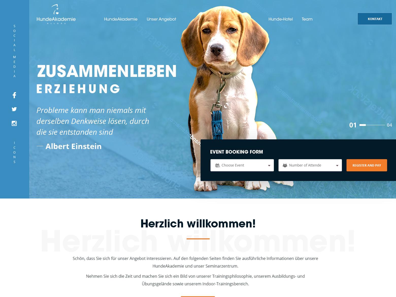 Hunde Akademie Allgu webdesign design hunde akademie allgu esolzwebdesign ui typography illustration professional