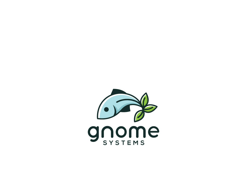 Gnome Systems icon logo typography illustration professional branding esolzlogodesign gnome systems