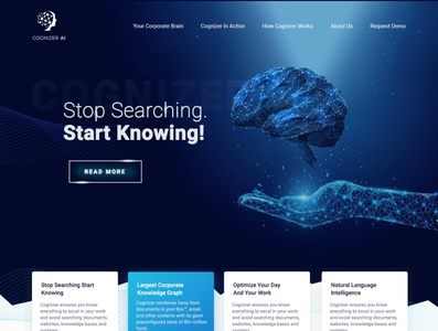 Cognizer AI website simple esolzwebdesign design ui illustration typography esolz professional