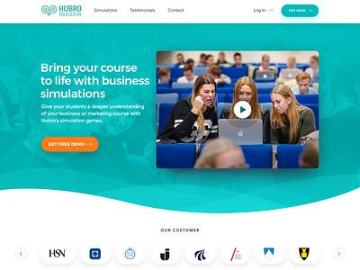 Hubro Education ui esolzwebdesign esolz illustration professional uidesign webdesigner webdevelopment html design wordpress webdesign