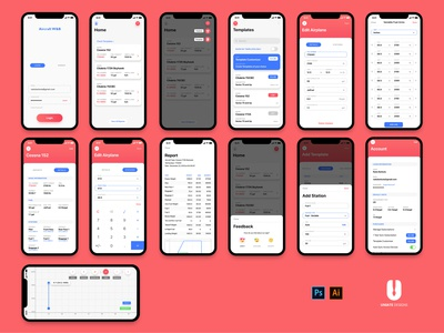 Noaseapp behance minimal website illustrator web app flat design illustration ui ux